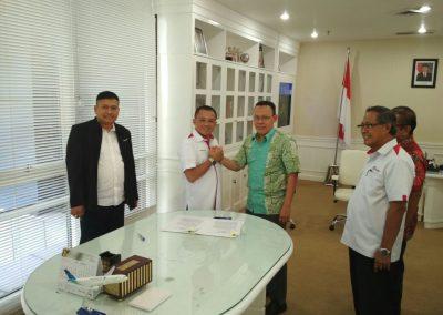 Penandatanganan Berita Acara Penyelesaian Hutang Piutang Antara Dirut PT Pelindo I Dengan PT Rukindo