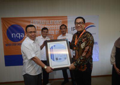 Penerimaan Sertifikat ISO 9001;2015